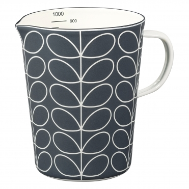 Linear Stem Enamel Large Measuring Jug - Slate