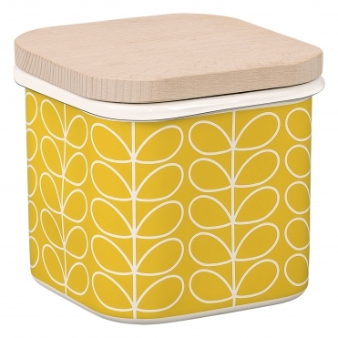 Linear Stem Enamel Storage Jar - Dandelion