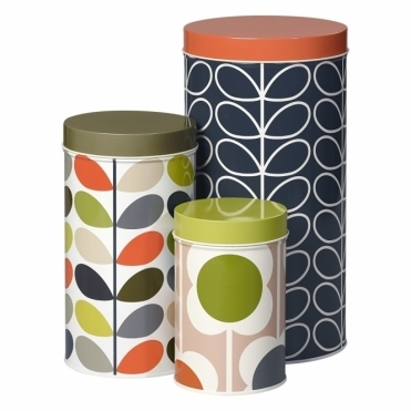 Linear Stem, Multi Stem & Abacus Flower Storage Tins - Set of 3