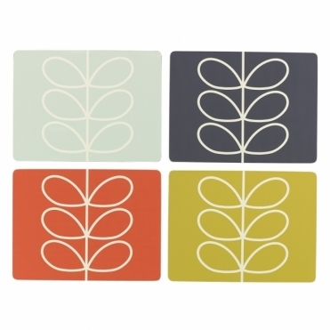 Linear Stem Placemats Assorted Colours - Set of 4