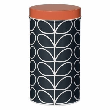 Linear Stem Slate Storage Tin Canister