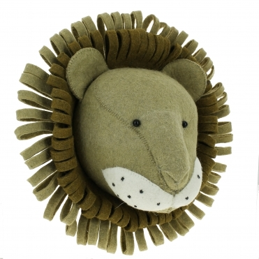 Lion Felt Animal Head Large - Wall Mounted