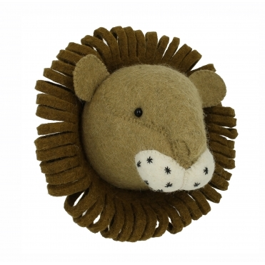 Lion Felt Animal Wall Head - Mini