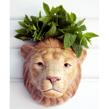 Lion Head Wall Vase