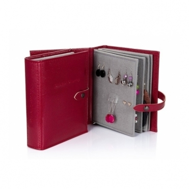 Earrings Storage - Dark Red