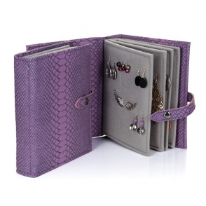 Earrings Storage - Purple Croc