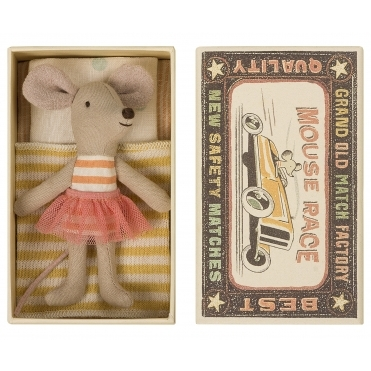 Little Sister Mouse Striped Top With Pink Tutu - Matchbox