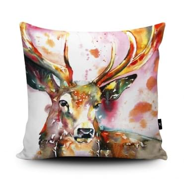 Liz Chaderton Red Stag Cushion With Insert