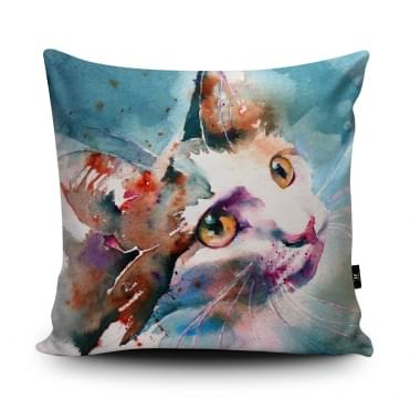 Liz Chaderton The Look Of Love Cat Cushion With Insert