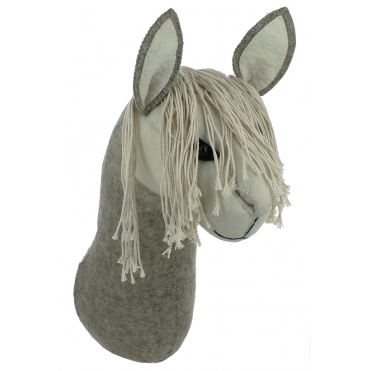Llama Felt Animal Head - Wall Mounted