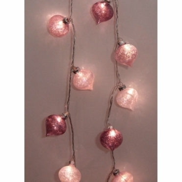 Lotus Glass Lantern Light Chain LED Fairy String Lights
