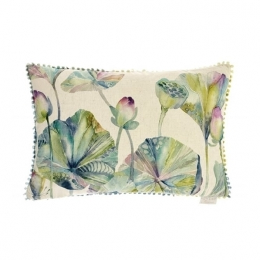 Lotus Leaves Rectangular Cushion