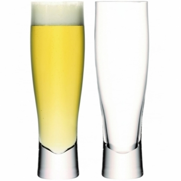 Bar Lager Glasses 550ml - Set of 2