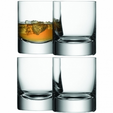 Bar Tumblers Set of 4 Glasses