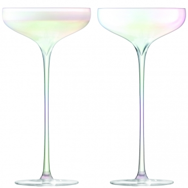 Celebrate Champagne Saucers Set Of 2 - Mother of Pearl