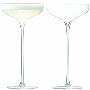 Celebrate Champagne Saucers - Set Of 2