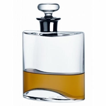 Flask Decanter Clear with Platinum Neck 0.8L