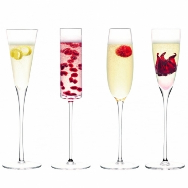 Lulu Champagne Flutes - Set Of 4 Assorted Shapes