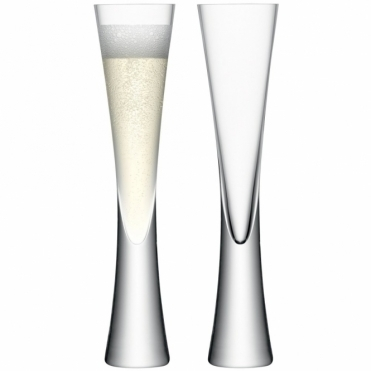 Moya Champagne Flutes Set of 2 Glasses