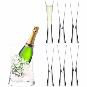 Moya Champagne Serving Set - Bucket & 6 Flutes