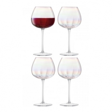 Pearl Red Wine Glasses - Set of 4