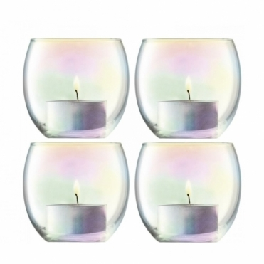 Pearl Tealight Holders - Set of 4