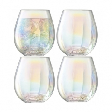Pearl Tumbler Glasses - Set of 4
