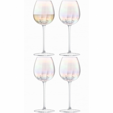Pearl White Wine Glasses - Set of 4