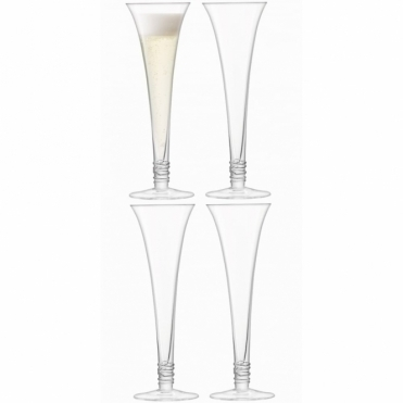 Prosecco Flutes Clear - Set of 4