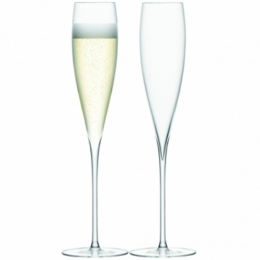 Savoy Champagne Flutes Set Of 2 Glasses