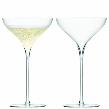 Savoy Champagne Saucers Set Of 2 Glasses