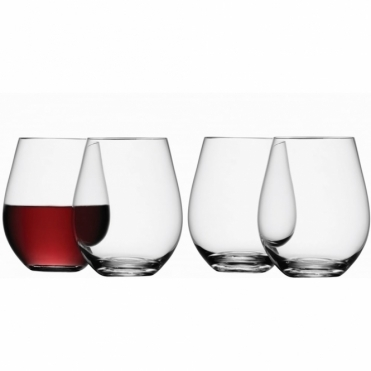 Stemless Red Wine Glasses - Special Buy Set - 6 for 4