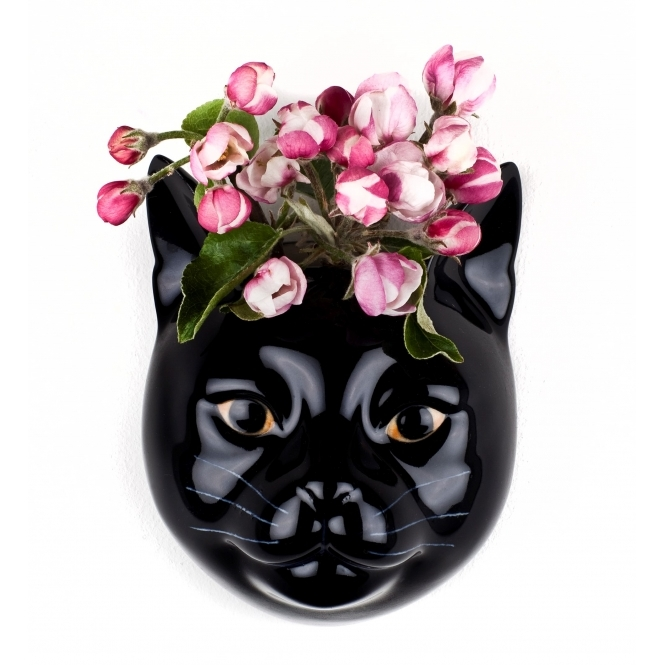 Lucky the Cat Wall Vase