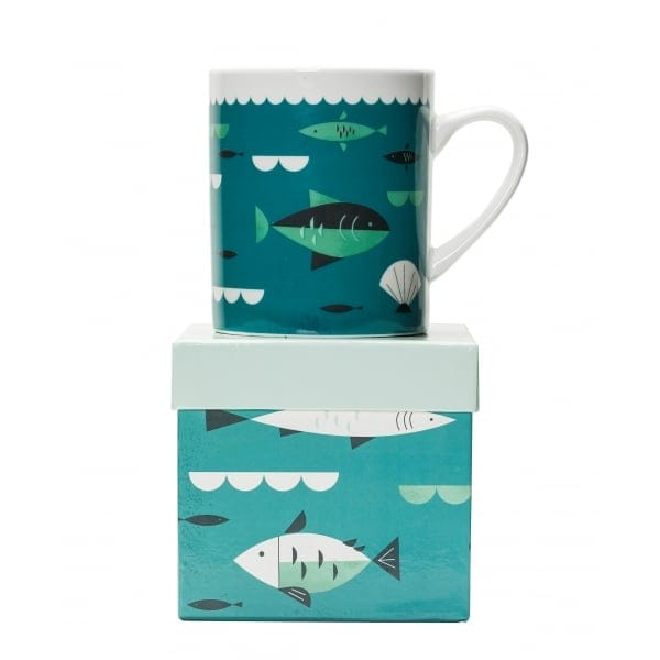 Magpie ahoy fish mug in gift box magpie from hurn hurn uk for Fishing gift box