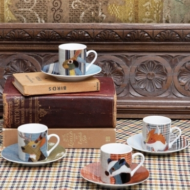 Espresso Cups and Saucers Set