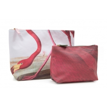 Flamingo Makeup & Wash Bags - Set of 2