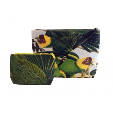 Parrot Makeup & Wash Bags - Set of 2