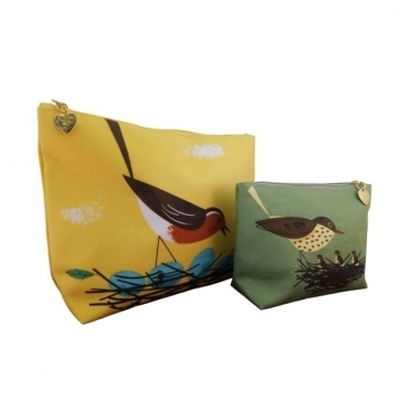 Makeup Bag / Wash Bag Twin Set : Robin & Thrush
