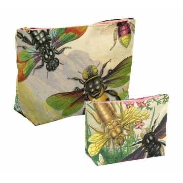 Rainbow Bugs Makeup & Wash Bags - Set of 2