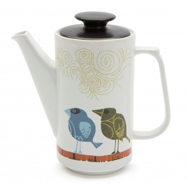 Family of Birds Coffee Pot - Gift Box
