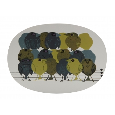 Family of Birds Placemats in Gift Box - Set of 4
