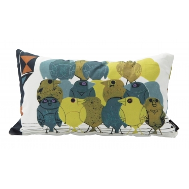 Family of Birds Rectangular Cushion