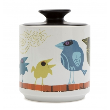 Family of Birds Storage Jar