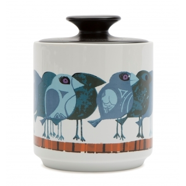 Family of Blue Birds Storage Jar