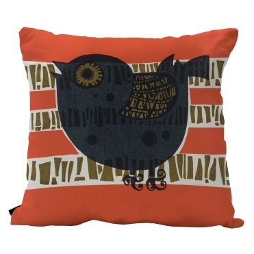 Shadow Bird Square Cushion