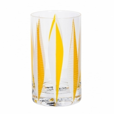 Yellow 60s Patterned Glass