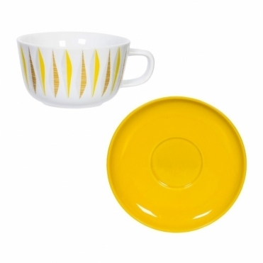 Yellow Cup & Saucer Set