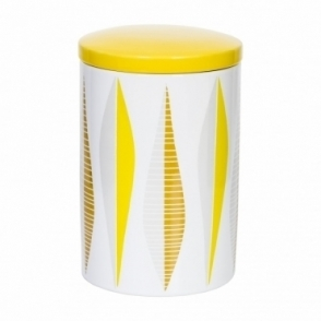 Yellow Stoneware Canister