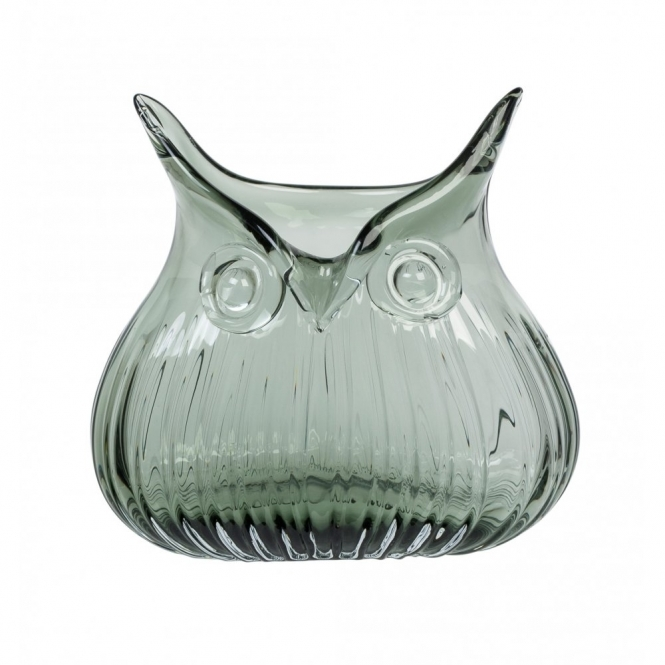 Magpie The Modern Home Edie Owl Vase Smoke