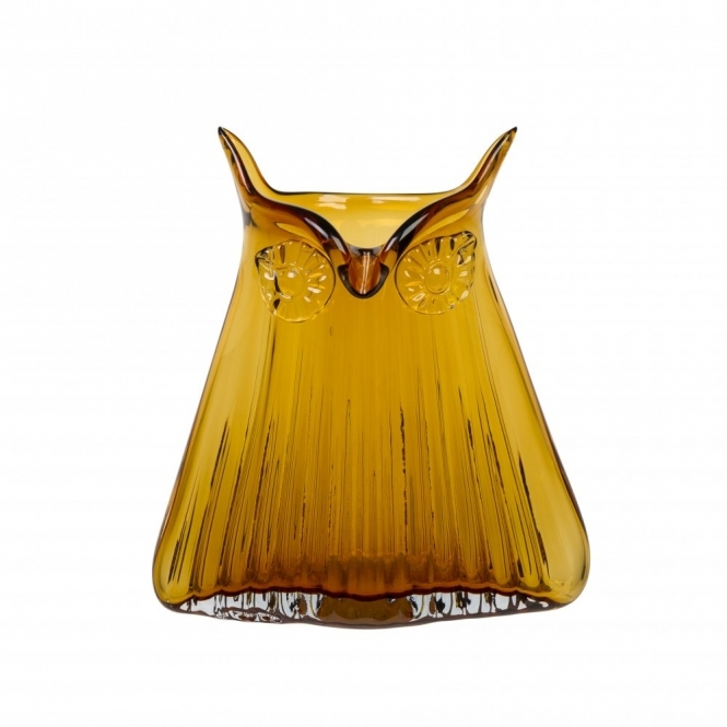 Magpie The Modern Home Vern Owl Vase Amber Large